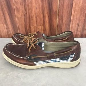 Sperry  Plaid Top spider Boat Shoes